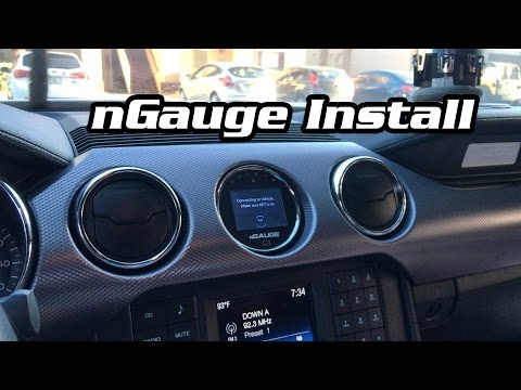How to Install a nGauge in a 2015+ Mustang A/C Vent