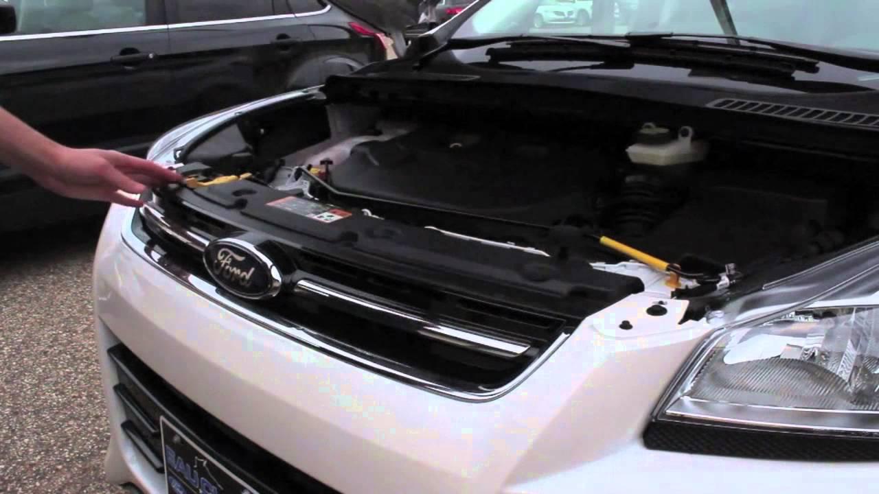 Ford Escape Titanium >> How to Open the Hood on a 2016 Ford Escape Titanium at Eau ...