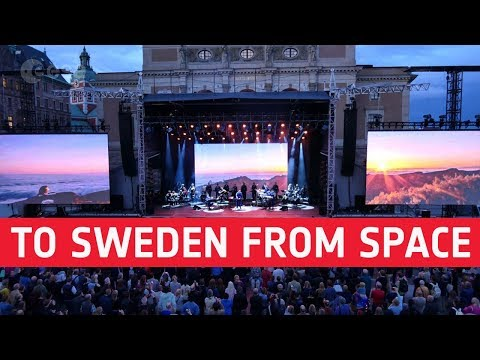Speaking to Sweden from space