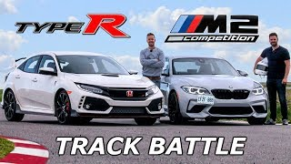 BMW M2 Competition vs Honda Civic Type R  TRACK REVIEW // DRAG RACE & LAP TIMES