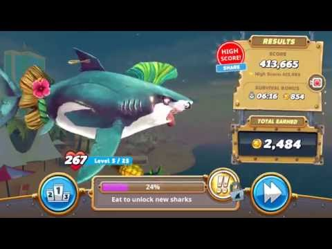 Great White in Arabian Sea Gameplay # 3 - Hungry Shark World