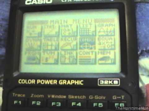 Casio CFX-9850GB Plus color graphing calculator (2002)