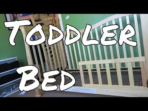 Changing a CRIB into TODDLER bed.