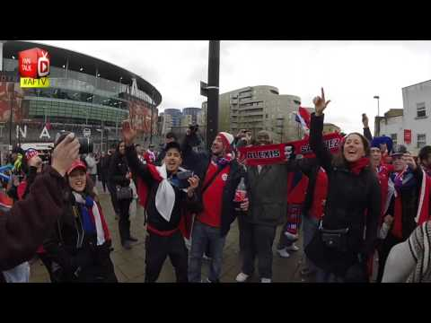 Chile & Brazil Fans Take Over The Emirates