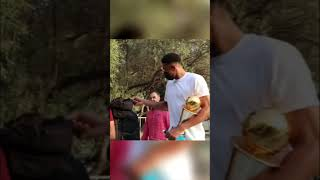 Giannis Antetokounmpo Surprised Kids in Greece with NBA Finals and  MVP TROPHY 🙌 #shorts