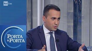 """Reddito di cittadinanza, Di Maio: """"Diamo un aiuto a famiglie più povere"""" - Porta a porta 10/04/2019"""