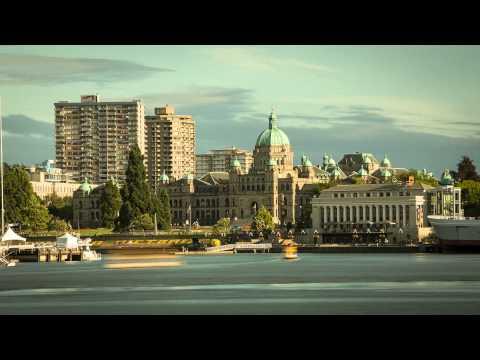 Victoria BC - Inner Harbour traffic time-lapse (4K)