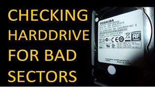 HD TUNE PRO: CHECKING HARD DRIVE FOR BAD SECTORS // TOSHIBA 500GB