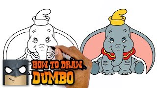 How to Draw Dumbo | Easy Step-by-Step Drawing Tutorial for Kids