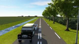 Visualisatie inrichting aansluiting N348 bij Lemelerveld voor Acon