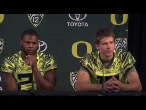 Oregon quarterback Justin Herbert discusses his experience at the Manning Passing Academy