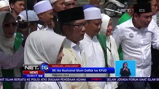 Ridwan Kamil Uu Ruzhanul Ulum Daftar Ke KPUD - NET 16 ... 7ccb9798c2