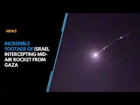 Watch: Incredible Footage Of Israel Intercepting Mid-air Rocket From Gaza