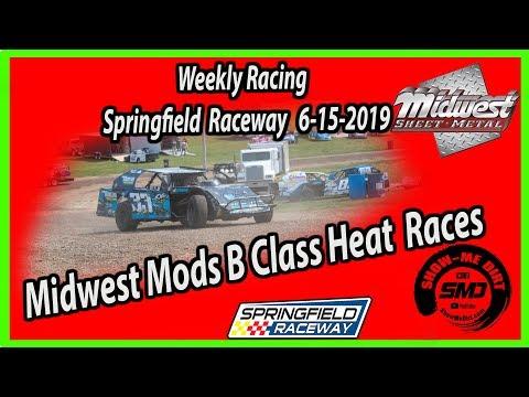 S03-E292 Midwest Mods B-Class Heat  Races Springfield Raceway 06-15-2019 #DirtTrackRacing