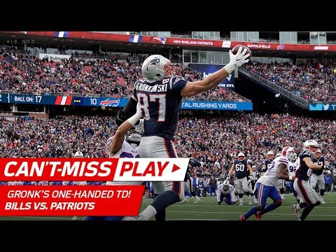 Rob Gronkowski's RiGRONKulous One-Handed TD Catch vs. Buffalo! | Can't-Miss Play | NFL Wk 16