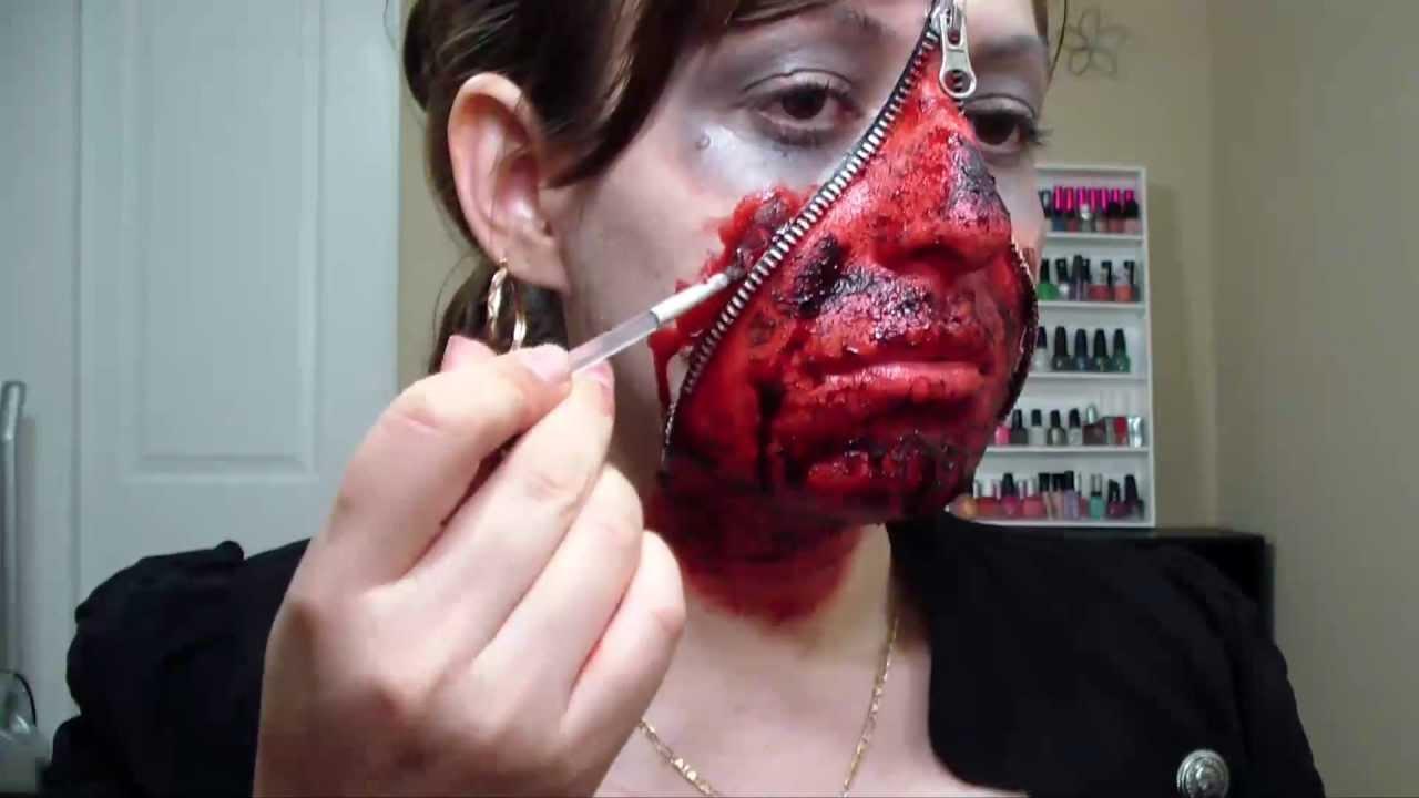 Halloween Zipper Face 2 - YouTube