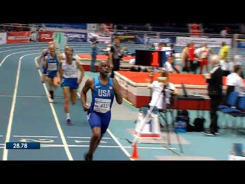 400m Final Run For M70 (by Charles Allie) In WMACI 2019 Torun, 26.03.2019
