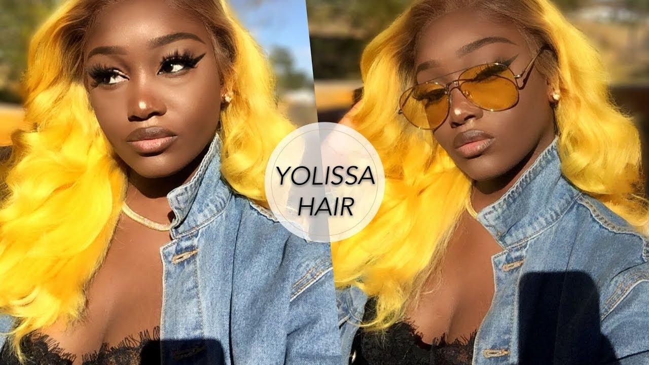 yellow hair dark skin