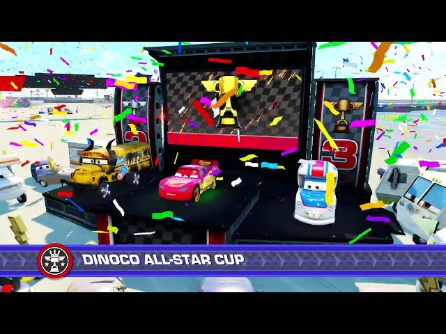 Cars 3: Driven to Win (PS4) Gameplay - Dinoco All-Star Cup (Playing as Lightning McQueen)