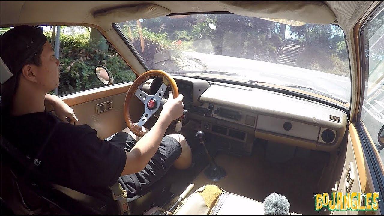 Broken Window, Car Audio install Pt 1 Toyota Starlet KP61