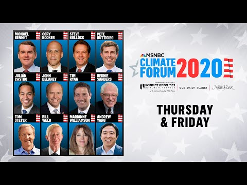 Watch Live: MSNBC's Climate Forum 2020 (DAY 2) | MSNBC