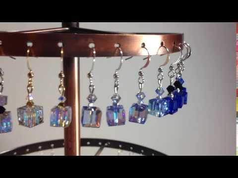 Rosemary's Jewellery 8x8mm Swarovski Crystal Cube Earrings