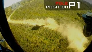 AWESOME WRC helicopter ride - presenter is sick!