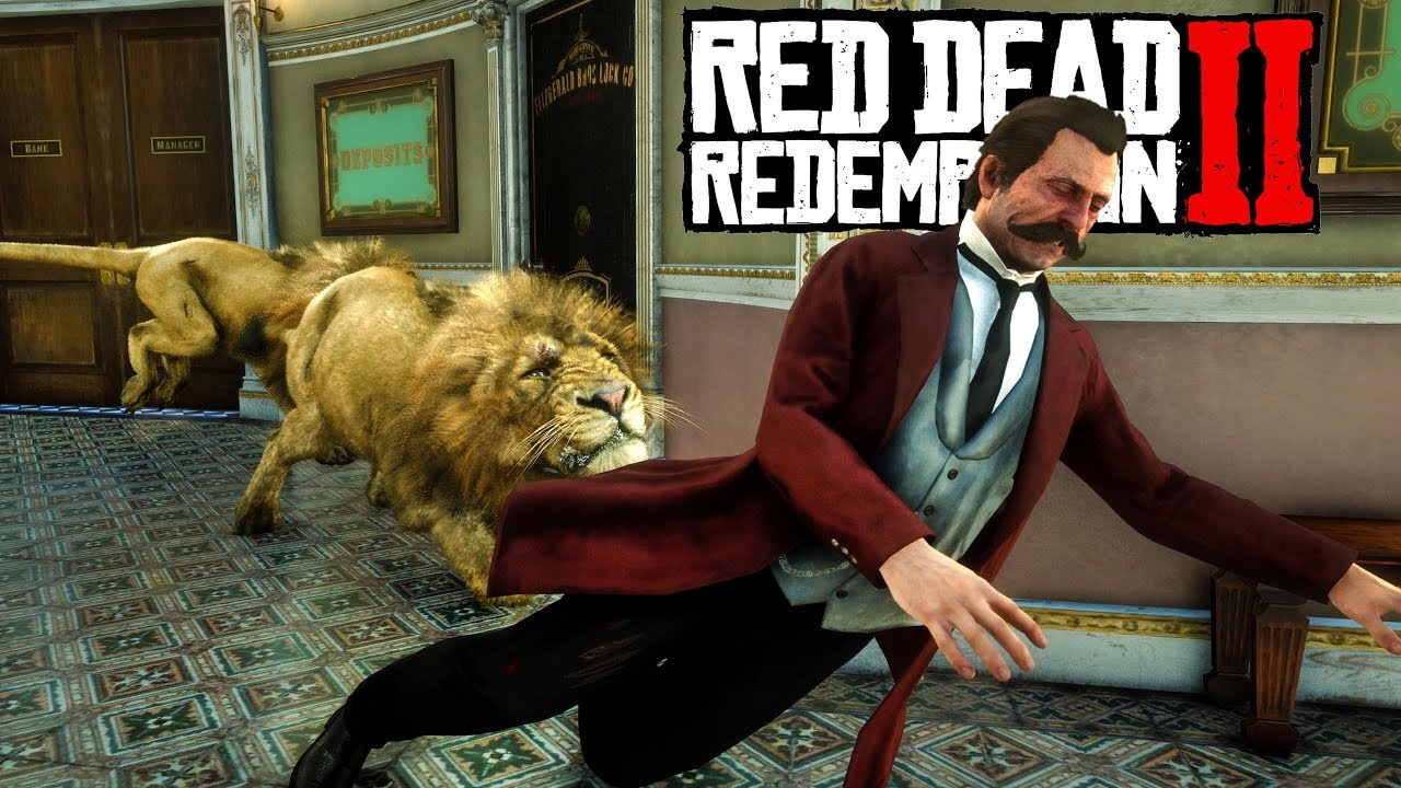 Lions Rob The Saint Denis Bank! Red Dead Redemption 2 [RDR2 PC Mods] thumbnail