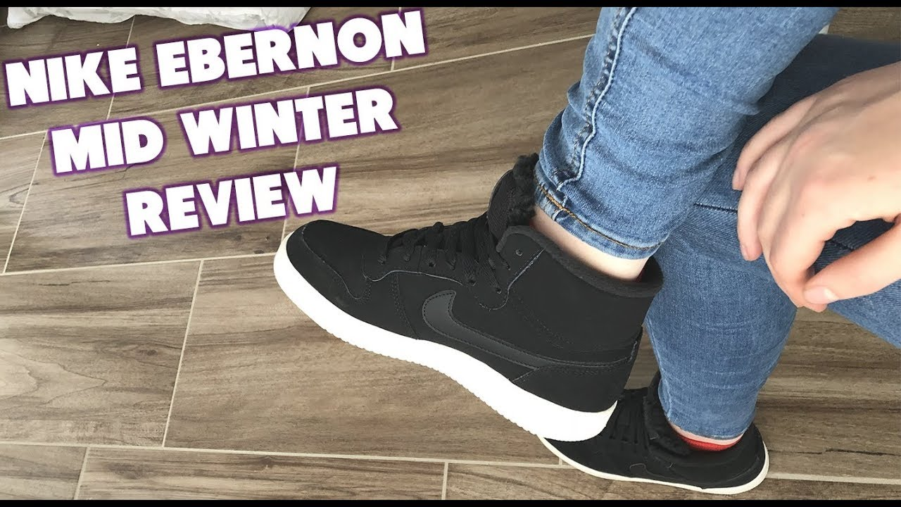 designer fashion super popular good texture NIKE EBERNON MID WINTER Review + Ersteindruck mit Jacky #03