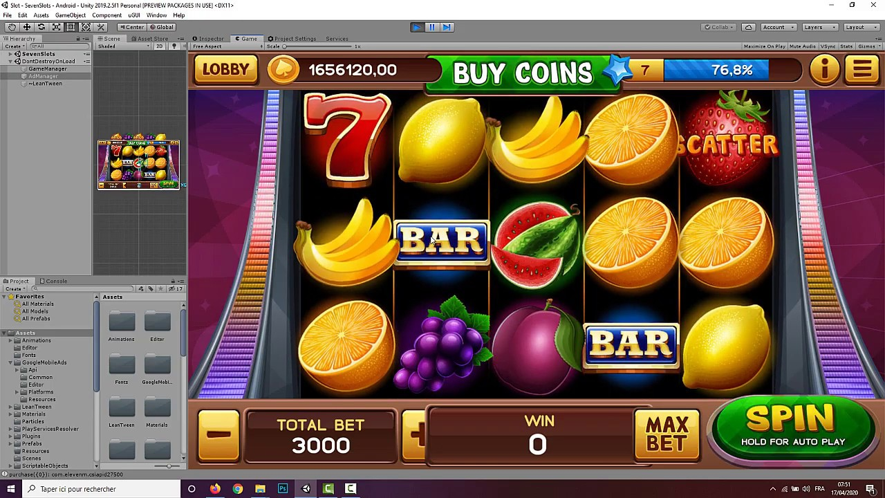 Slot Machine Game Source Code