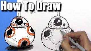How to Draw Cute Cartoon BB-8 Droiden - EINFACHE Chibi - Schritt für Schritt - Kawaii