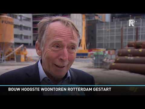 Bouw Zalmhaventoren van start: 'Mix van woningen is nodig voor Rotterdam'