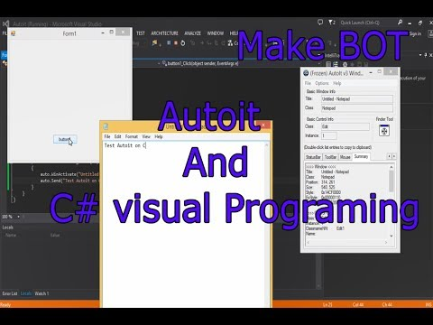 Autoit on c# (Tutorials Automation Programing)