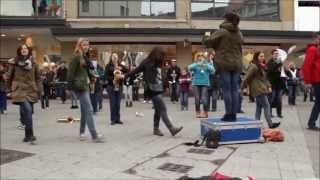 hd flash mob music party rock anthem