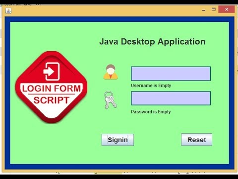 Form validation in java (Check if input fields are empty) - YouTube