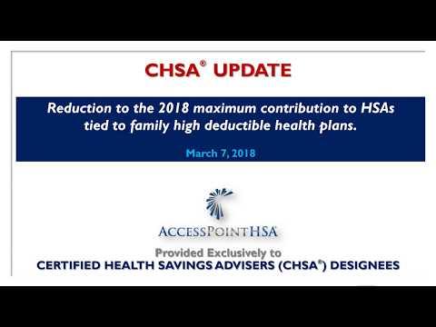 HSA Contributions 2018  CHSA Update #0218 pptx