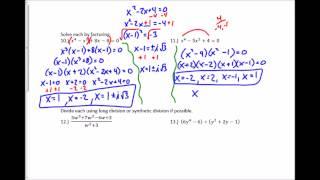Algebra 2 Practice Chapter 5 Test #7-15