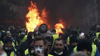 Yellow Vest Protests Tear Gas