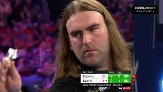7-Seed Mensur Suljovic Upset by Ryan Searle | World Darts Championship 2018-19 | BBC America