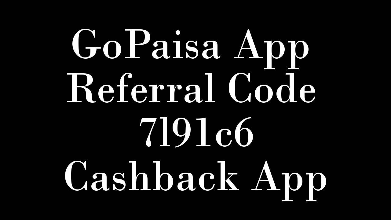 gopaisa app coupon code