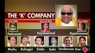 kalaigar karunanidhi family tree explains his whole family history