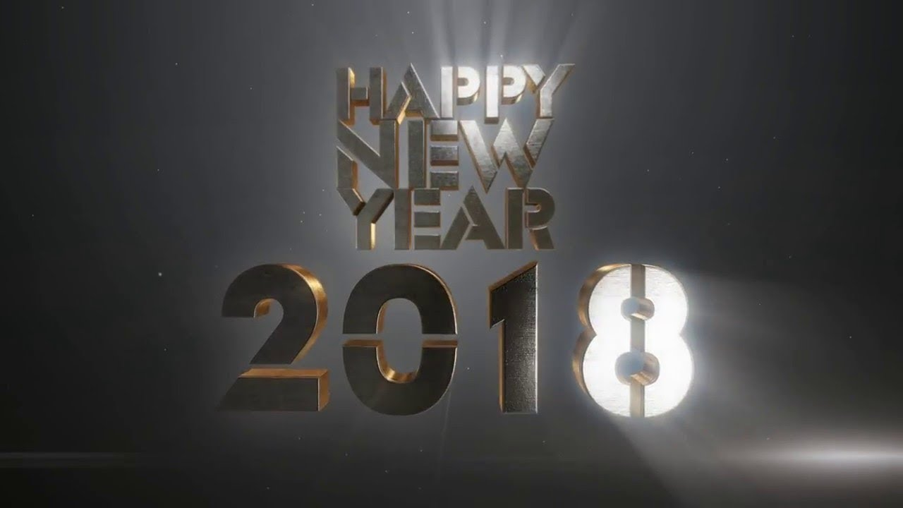 happy new year 2018 wishes 3d animation greetings rh professional
