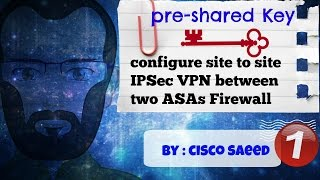 How to configure site to site IPSec VPN between two ASAs Firewall(pre-shared Key) Part 1