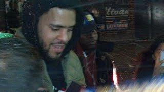 J. Cole Meeting Fans at Late Night with David Letterman