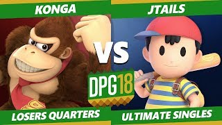 Smash Ultimate Tournament - Konga (DK) Vs. Jtails (Ness, Diddy) DPOTG18 SSBU Losers Quarters