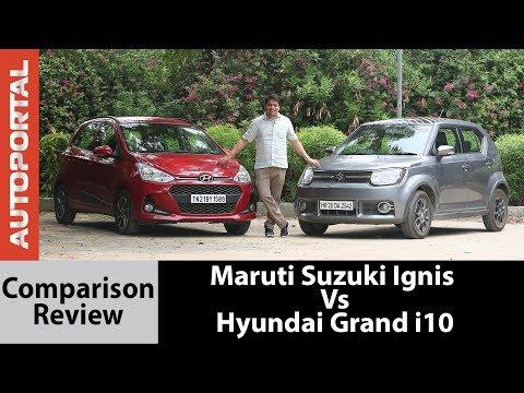 Maruti Suzuki Ignis Vs Hyundai Grand i10 Test Drive Comparison Review - Autoportal