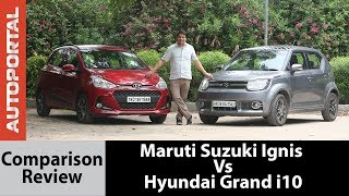 Maruti Suzuki Ignis Vs Hyundai Grand i10 Test Drive Comparison Review - Autoportal