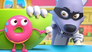 Donuts Run Away From Wolf | Colors Song, Vegetables Song | Nursery Rhymes | Kids Songs | BabyBus