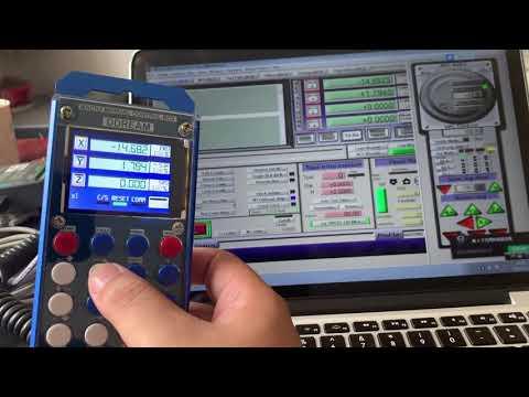 CNC 6 Axis MPG Manual Pulse Generator with Handwheel & LCD Mach3