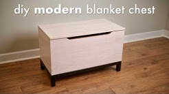 DIY Modern Blanket Chest or Toy Box // How To Build - Woodworking